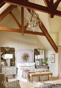 Huff Harrington Home // Guest Bedroom At The 2015 Cashiers Designer  Showhouse Log Home Decorating