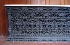 Cast iron radiator enclosure with cararra marble top, England Home Radiators, Cast Iron Radiators, Victorian Radiators, I Love Mirrors, Radiator Heater, Victorian Parlor, Mantle Piece, Radiator Cover, House Inside
