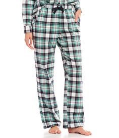 4d5442b030 Sleep Sense Portuguese Flannel Lily Plaid Printed Sleep Pants  Portuguese