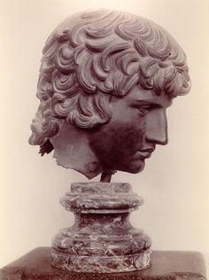 Male Bust, Roman Bronze Sculpture, at the Musée archéologique, Florence.
