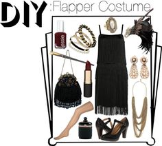 """DIY: Flapper Costume"" by theekissoflife on Polyvore"