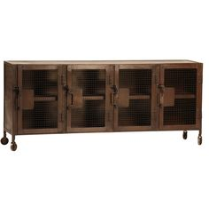 Vintage Industrial Iron Sideboard Console | Zin Home