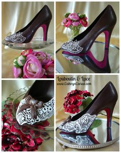 Chocolate Stiletto Shoes - small, medium and large - single or pairs - bespoke - personalised - made to order Chocolate Work, Chocolate Gifts, Chocolate Covered, White Chocolate, Chocolate Shapes, Camo Wedding Cakes, White Wedding Cakes, Chocolates, Shoe Cakes