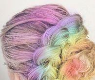Colorful Hair Braided Bun