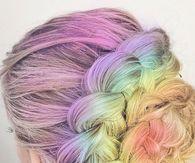 Colorful Hair Braided Bun