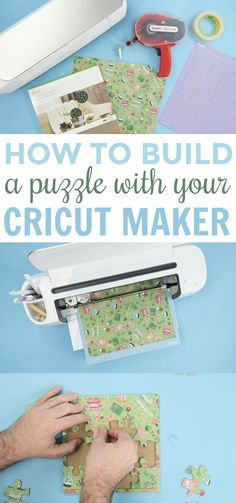 How To Build a Puzzle With Your Cricut Maker, DIY and Crafts, You're going to love how easy it is to take any of your favorite photos, paper, or patterns and turn it into DIY Puzzles with your Cricut Maker. Diy For Teens, Diy Crafts For Kids, Projects For Kids, Easy Crafts, Craft Projects, Wood Projects, Summer Crafts, Project Ideas, Craft Ideas