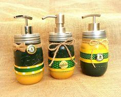 Oakland Athletics soap dispenser, mason jar soap pump, oakland A's by QUEENBEADER