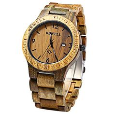 Megadream Fashion Solid Unisex Hand Made Wooden Quartz Analog Watch with Imported Japan Quartz Movement and Calendar Date Display with Band Opener  Vera wood -- See this great product.Note:It is affiliate link to Amazon.