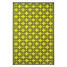 Prater Mills Indoor/ Outdoor Reversible Lime Green/ Gray Rug
