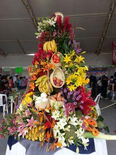 Arreglo de flores en la Feria intercultural Chapingo 2013