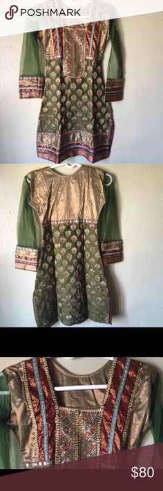 Indian clothing shalwar kamiz Still new Comes with dupatta Can't find the salwar, if I do then will add it.  Feel free to ask any questions.  Ships within 2-3 days  Tags: Anarkali  Indian dress  Saree  Pakistani dress  Shalwar khamiz Dresses