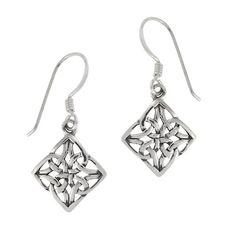 Sterling Silver Celtic Knot Diamond-Shaped Drop « Holiday Adds