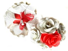 Paper Rose Bridesmaid's Bouquets made to order