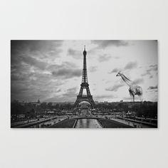 Paris Giraffe  Stretched Canvas by Harrison Telyan - $85.00