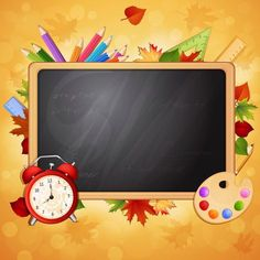 school, школа, доска, часы, карандаши
