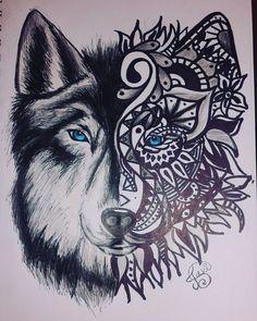 lobo-mandala