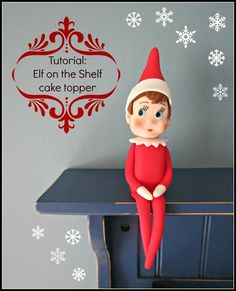 Photo: My household is obsessed with The Elf on the Shelf this time of year so I had to turn the little guy into a cake topper. I took some photos along the way!