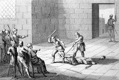 La tortura della battitura dei piedi in voga in Europa nel Medio Evo e nel Rinascimento. Quella del carnefice era una professione riconosciuta