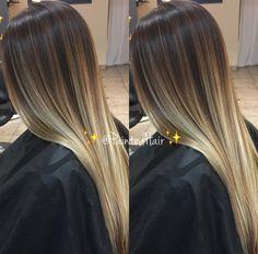 Mein Kunde kommt in ev . Dark Blonde Hair Color, Blonde Hair Looks, Ombre Hair Color, Brown Hair Balayage, Hair Color Balayage, Hair Highlights, Hair Color 2018, Hair Facts, Beautiful Hair Color