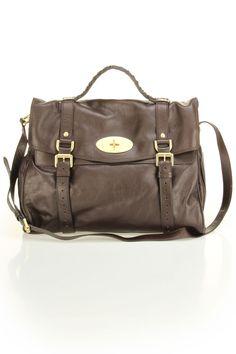 Mulberry Oversized Alexa Soft Buffalo Shoulder Bag In Chocolate