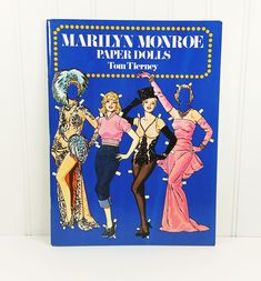 Marilyn Monroe Paper Dolls by Tom Tierney Doll. A 1979 Dover Softcover book offered by naturegirl22.etsy.com