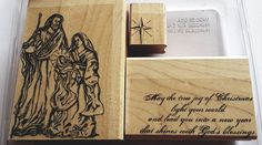 Stampin' Up *HOLY FAMILY* 3 pc Mounted Rubber CHRISTMAS Stamp Set. Retired. | Crafts, Stamping & Embossing, Stamps | eBay! Holy Family, Holi, Stampin Up, Blessed, Stamps, Christmas, Crafts, Ebay, Seals