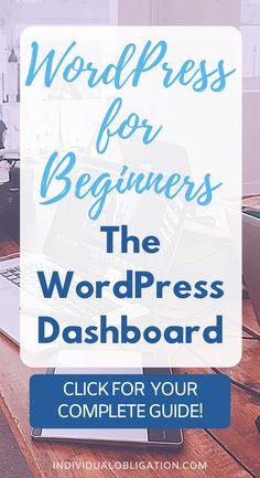 Wordpress For Beginners, Learn Wordpress, Wordpress Admin, Blogging For Beginners, Wordpress Plugins, Wordpress Free, Blogging Ideas, Blog Writing, Writing Guide
