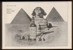 1904 Dewar's White Label Scotch whisky Egypt Sphinx pyramids vintage