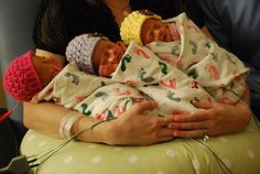 Triplet girls, Scarlett, Sylvia and Sonia born prematurely. Parents can not tell them apart so paint their toenails.
