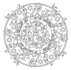 Mandala 618, Christmas Designs 3D Coloring Book, Dover Publications
