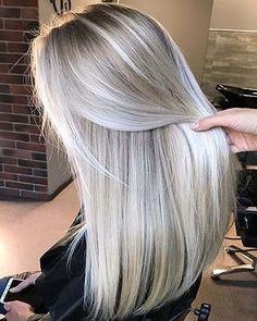 Cool Blonde Hair Colour, Ice Blonde Hair, Blonde Hair Shades, Blonde Hair Looks, Platinum Blonde Hair, Icy Blonde, Blonde Straight Hair, Greyish Blonde Hair, Blonde Hair For Brunettes