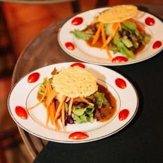 Salads served to the guests during the wedding reception | Brushfire Photography | villasiena.cc