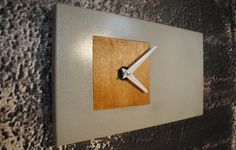Rectangular Concrete Clock by fmcdesign on Etsy, $95.00