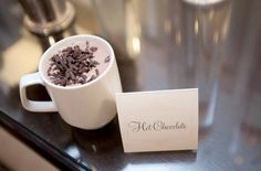 Hot chocolate at winter weddings