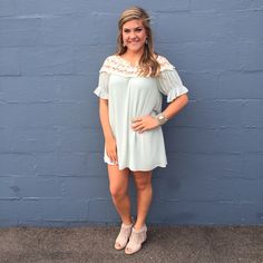 Mint dress crochet bodice