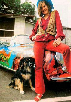 Janis Joplin & her psychedelic Porsche
