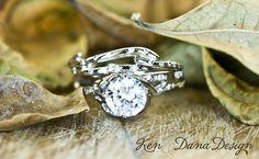 Engagement Ring Set by Ken & Dana Design