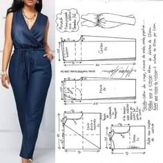 Blazer spencer sem gola diy molde corte e costura marlene mukai taika salvabrani. Jumpsuit Pattern, Pants Pattern, Pattern Dress, Blazer Pattern, Sewing Aprons, Sewing Clothes, Skirt Sewing, Barbie Clothes, Sewing Patterns Free