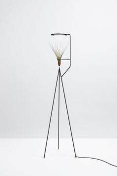 Barcelona-based design studio Goula Figuera created 'Viride' (meaning 'green' in Latin), a set of illuminated planters that combined vegetation with artificial lighting. Design Light, Lamp Design, Lighting Design, Indoor Plant Lights, Plant Lighting, Minimalist Furniture, Room Lamp, Home And Deco, Lamp Light
