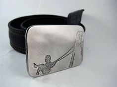 Playground Fun Belt Buckle  Etched Stainless by RhythmicMetal, $60.00