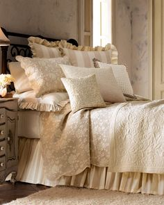 """""""Madeline"""" Bed Linens by Pine Cone Hill at Horchow."""