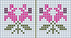 Knitting Charts, Easy Knitting, Cross Stitch Alphabet Patterns, Knitted Mittens Pattern, Tapestry Crochet Patterns, Small Cross Stitch, Beaded Cross, Crochet Chart, Loom Beading