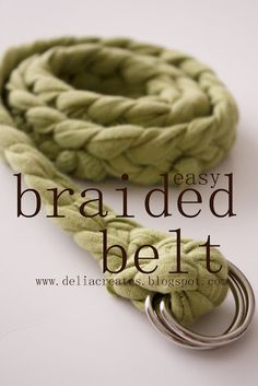 Want another great way to use old T-shirts? Follow this fantastic tutorial for a simple braided belt.