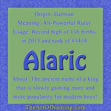 Alaric name - Google Search Latin Meaning, Greek Meaning, Welsh Names, German Names, Strong Boys Names, Boy Names, Baby Names And Meanings, Names With Meaning, Names