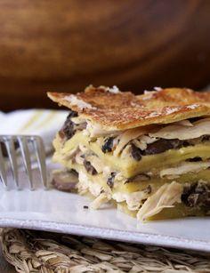 Lasagna with Chicken & Mushrooms (Gluten-Free)