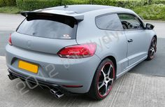 VW Scirocco fully vinyl wrapped in matt grey car wrap by Totally Dynamic Leeds