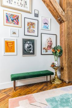 pops of color and inspiring wall gallery