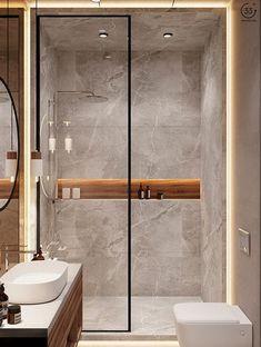Modern Luxury Bathroom, Bathroom Design Luxury, Bathroom Layout, Modern Bathroom Design, Small Luxury Bathrooms, Modern Shower, Modern Bathrooms, Bathroom Ideas, Industrial Chic Bathrooms