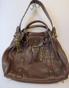 BETSEY JOHNSON Large Brown Leather Purse Handbag Shoulder Bag #BetseyJohnson #ShoulderBag