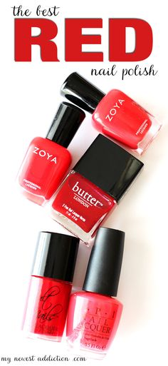 The Best Red Nail Polish - My Newest Addiction Beauty Blog